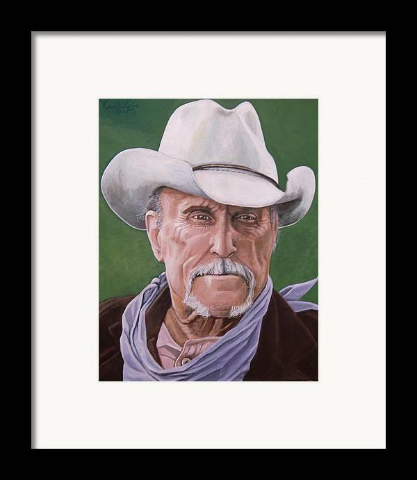 Cowboy Framed Print featuring the print Boss Spearman 2 by Kenneth Kelsoe