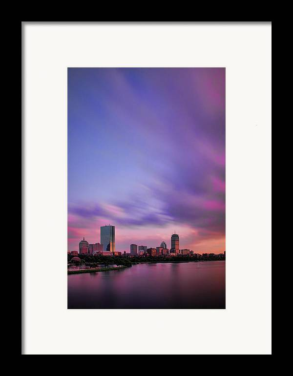 Boston Framed Print featuring the photograph Boston Afterglow by Rick Berk