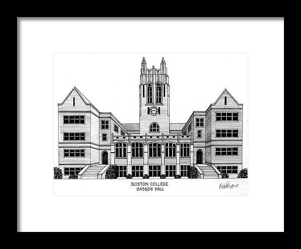 Boston College Framed Print by Frederic Kohli