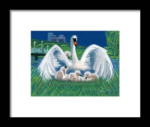Martin Richard Framed Print featuring the digital art Boston Embraces Her Own by Jean Pacheco Ravinski