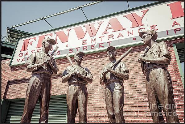 Boston Fenway Park Sign Gate B Statues by Paul Velgos
