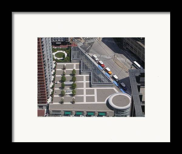Boston View Framed Print featuring the photograph Boston Geometric by Nancy Ferrier