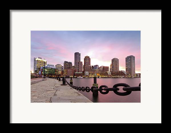 Horizontal Framed Print featuring the photograph Boston Harbor by Photo by Jim Boud