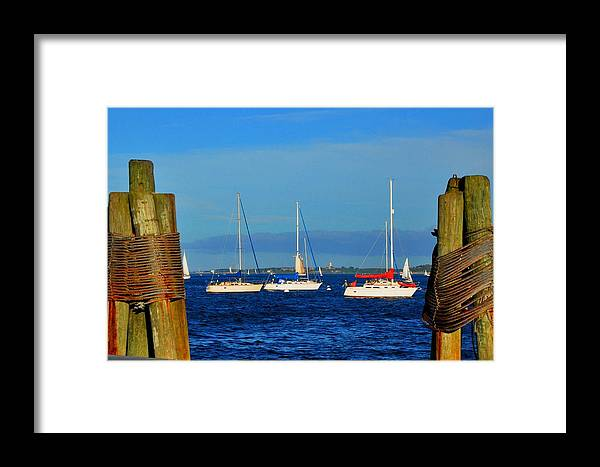 Sunrise Framed Print featuring the photograph Boston Harbor Picture Perfect by Andrew Dinh