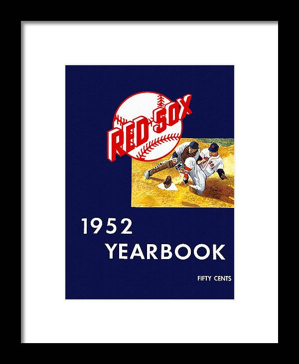 Boston Red Sox Framed Print featuring the painting Boston Red Sox 1952 Yearbook by John Farr