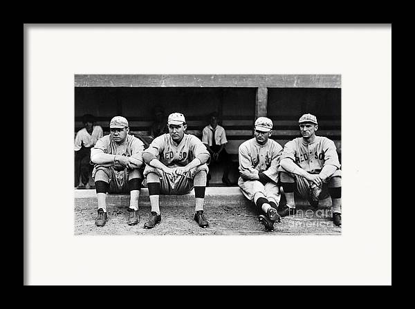1916 Framed Print featuring the photograph Boston Red Sox, C1916 by Granger