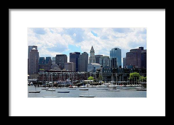 Boston Framed Print featuring the photograph Boston Skyline by Corinne Rhode