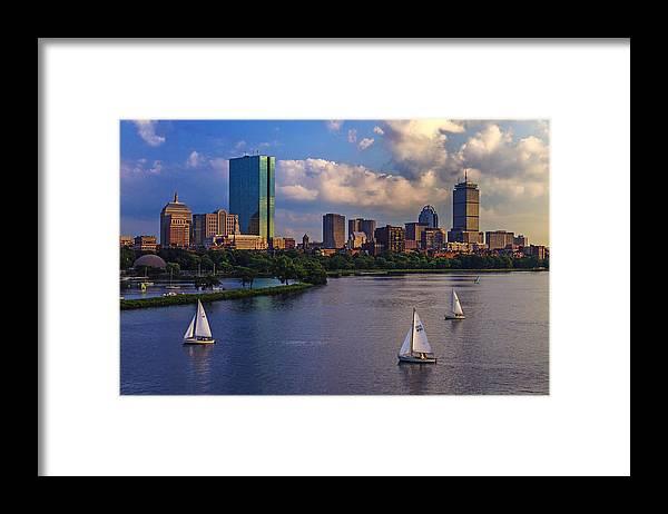 Longfellow Bridge Framed Print featuring the photograph Boston Skyline by Rick Berk