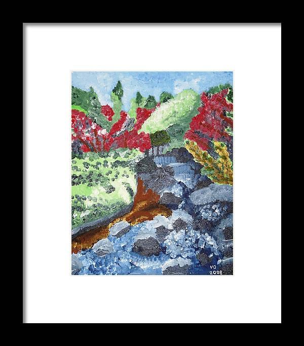 Landscape Framed Print featuring the painting Botanic Garden Merano 2 by Valerie Ornstein