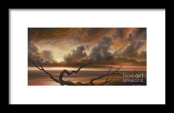 Ocean Framed Print featuring the painting Botany Bay by James Christopher Hill