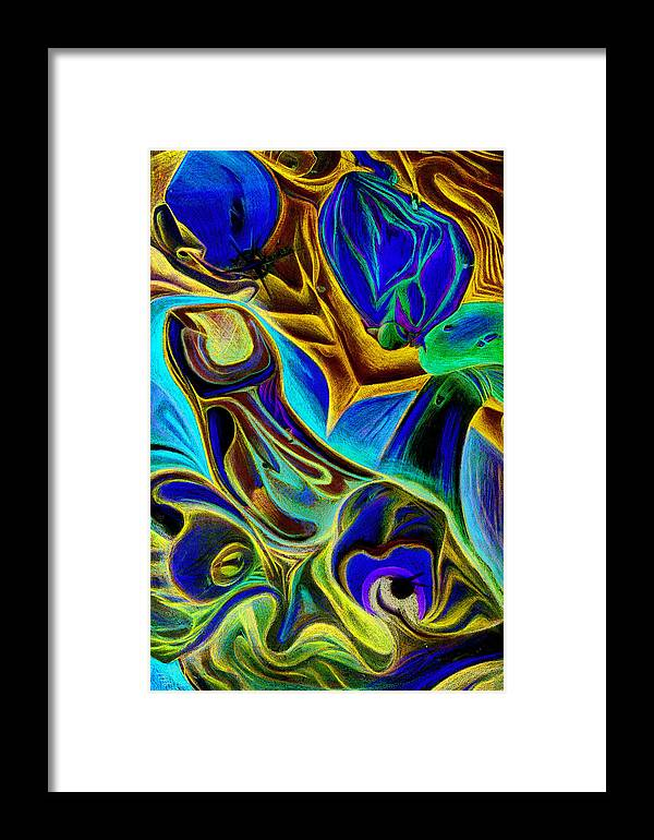 Abstaract Framed Print featuring the mixed media Bottle Noose by James Hammons