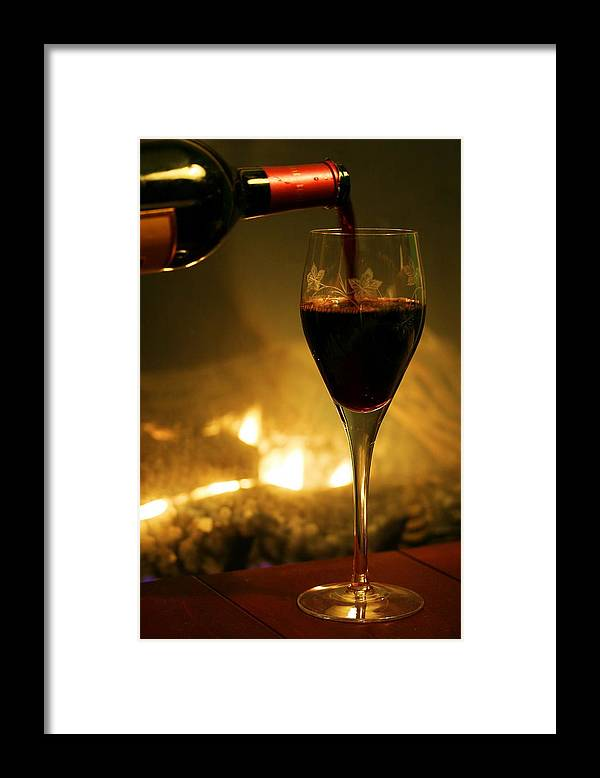 Wine Framed Print featuring the photograph Bottled Poetry by Mitch Cat