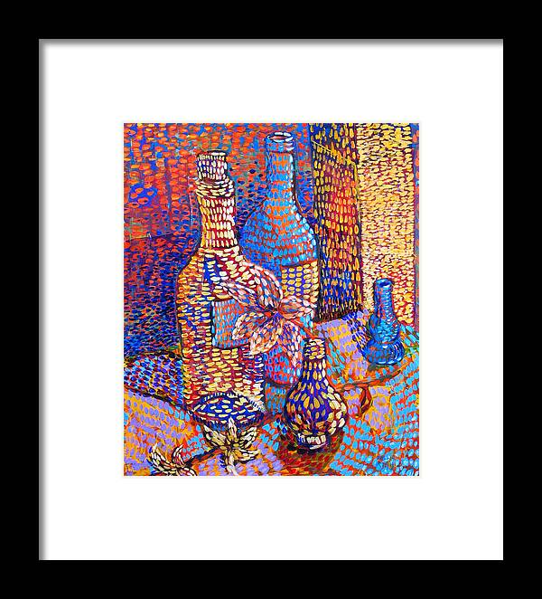 Still Life Framed Print featuring the painting Bottles And Vases by Rollin Kocsis