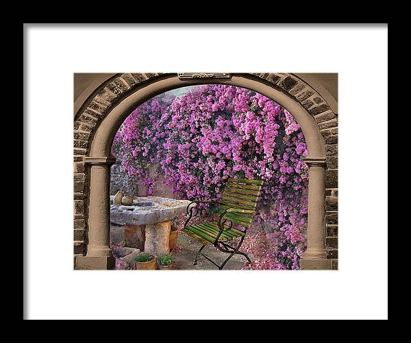 Bougainvillea Framed Print featuring the photograph Bougainvillea 3 by Manfred Lutzius