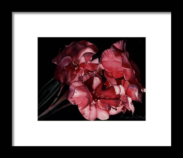 Watercolor Framed Print featuring the painting Bouganvilla by Patricia Halstead