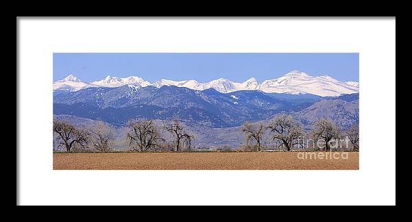 Boulder Framed Print featuring the photograph Boulder County Colorado Panorama by James BO Insogna