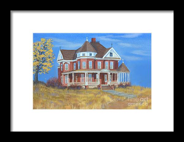Boulder Framed Print featuring the painting Boulder Victorian by Jerry McElroy