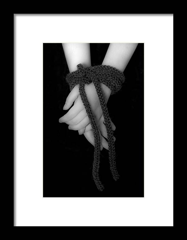 Hand Framed Print featuring the photograph Bound Hands by Joana Kruse