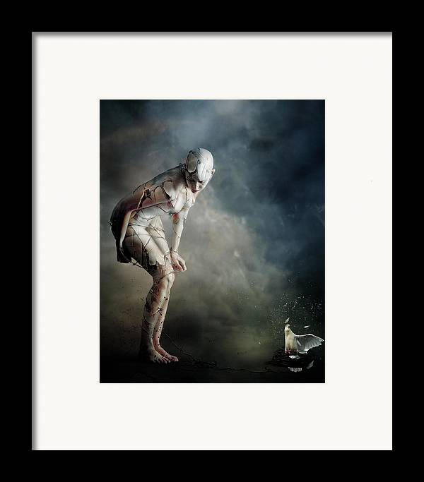 Woman Framed Print featuring the digital art Bound by Mary Hood