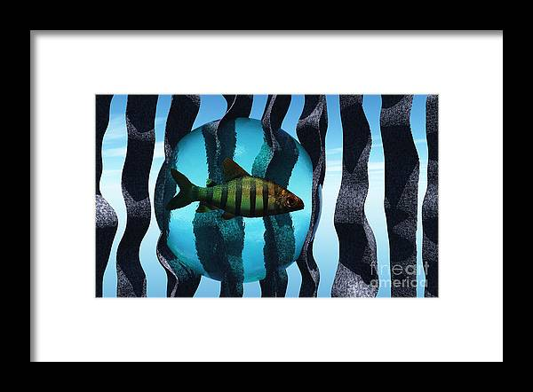 Surreal Framed Print featuring the digital art Bound by Richard Rizzo