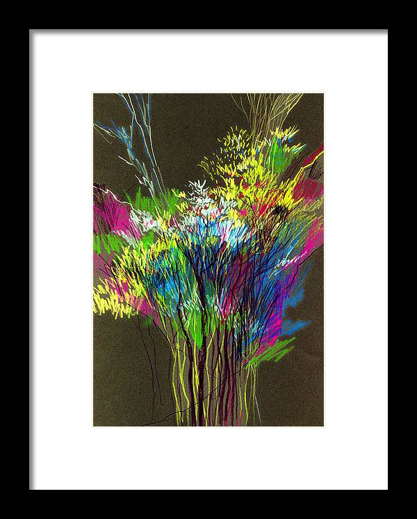 Flowers Framed Print featuring the painting Bouquet by Anil Nene