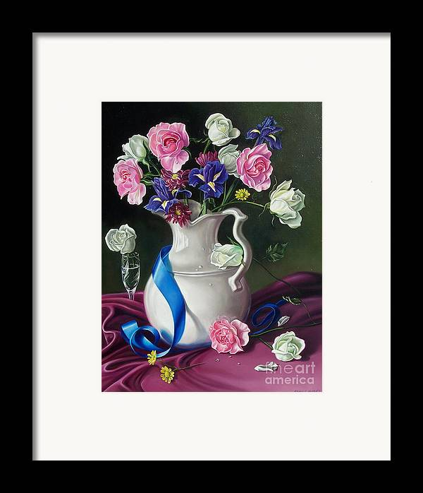 Floral Framed Print featuring the painting Bouquet by Arnold Hurley