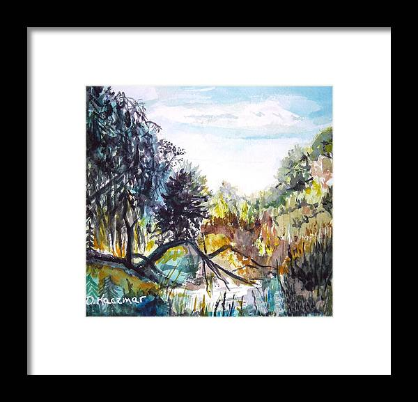 Bouquet Canyon Framed Print featuring the painting Bouquet Canyon Wash 1 by Olga Kaczmar