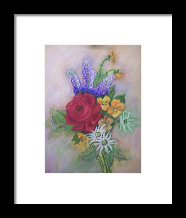 Still Life Framed Print featuring the painting Bouquet by Charles Vaughn