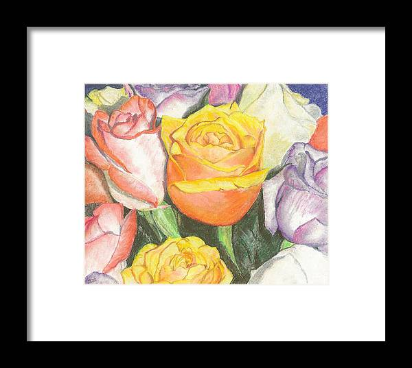 Bouquet Framed Print featuring the painting Bouquet by Leslie Gustafson