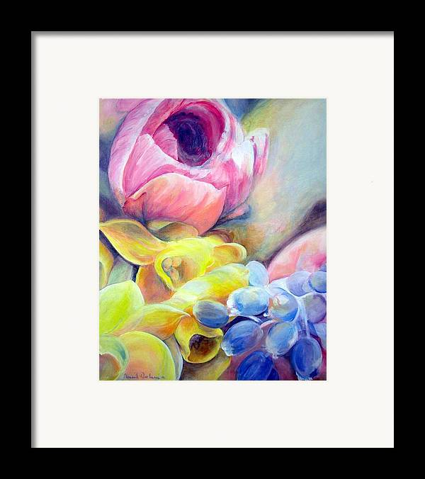 Flower Framed Print featuring the painting Bouquet by Muriel Dolemieux