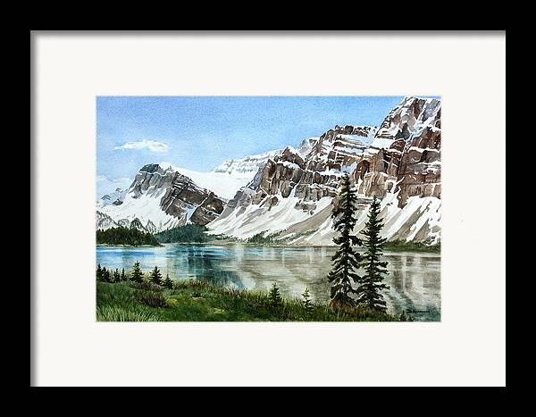 Bow Lake Framed Print featuring the painting Bow Lake Alberta No.2 by Debbie Homewood
