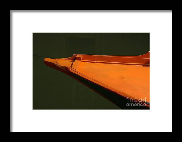 Boat Framed Print featuring the photograph Bow Of Boat In Venice by Michael Henderson