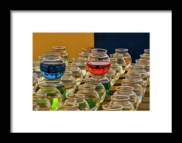 Bowls Framed Print featuring the photograph Bowls Full Of Color by Mitch Spence