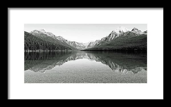 Landscape Framed Print featuring the photograph Bowman Lake - Glacier National Park 2 by Linda Richardson