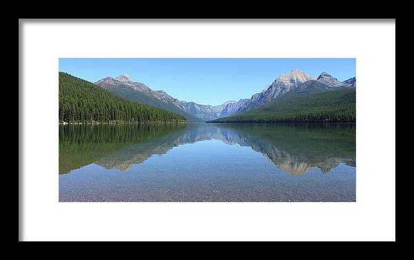 Landscape Framed Print featuring the photograph Bowman Lake - Glacier National Park by Linda Richardson