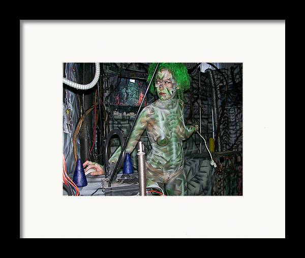 Performance Framed Print featuring the painting Box N A Box by Leigh Odom