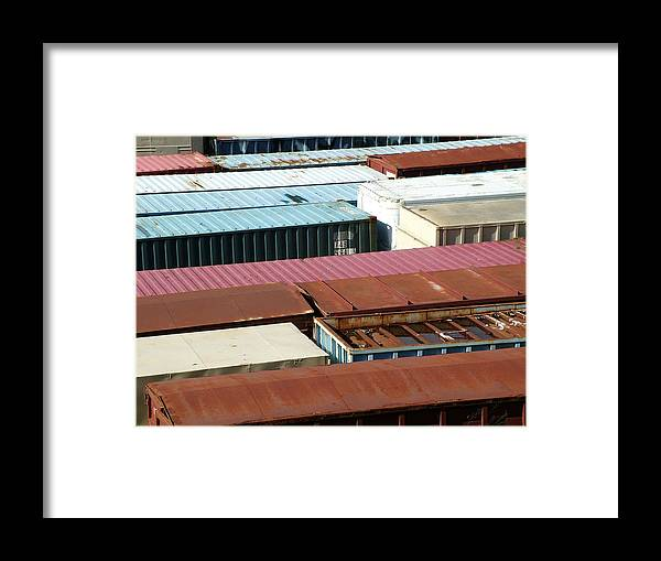 Abstract Framed Print featuring the photograph Boxed In by John Loyd Rushing