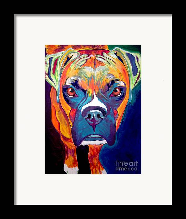 Boxer Framed Print featuring the painting Boxer - Harley by Alicia VanNoy Call