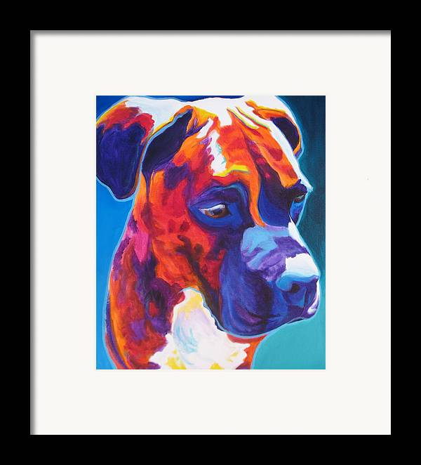 Dawgart Framed Print featuring the painting Boxer - Jax by Alicia VanNoy Call