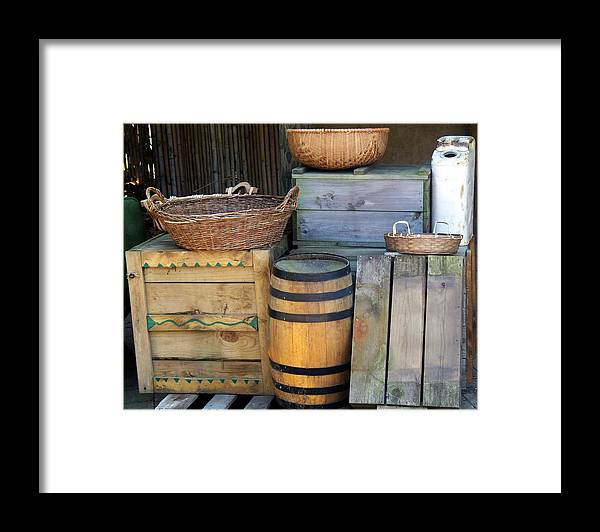 African Framed Print featuring the photograph Boxes And Baskets by Emily Kelley