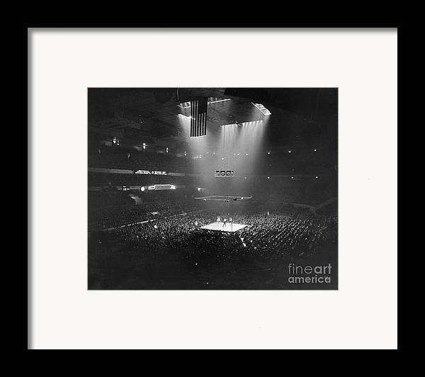 1941 Framed Print featuring the photograph Boxing Match, 1941 by Granger