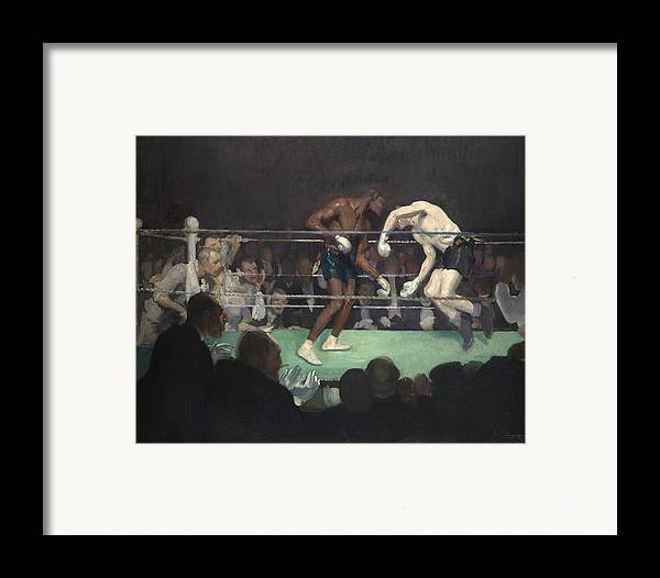 Boxing Framed Print featuring the painting Boxing Match by George Luks