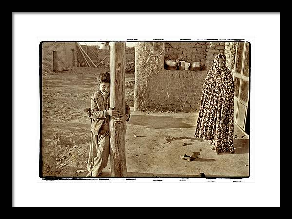 Iran Framed Print featuring the photograph Boy In Plaid Jacket, Iran by Michael Ziegler