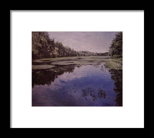 Landscape Framed Print featuring the painting Boy Scout Reservation by Richard Ong