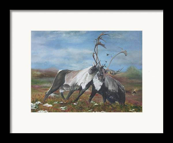 Nature Framed Print featuring the painting Boys Will Be Boys by Jane Simpson