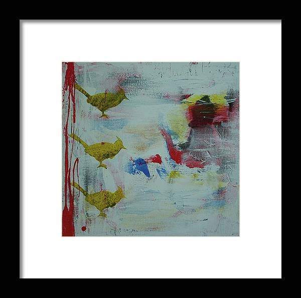 Abstract Framed Print featuring the painting Bp 1 by Betty OHare