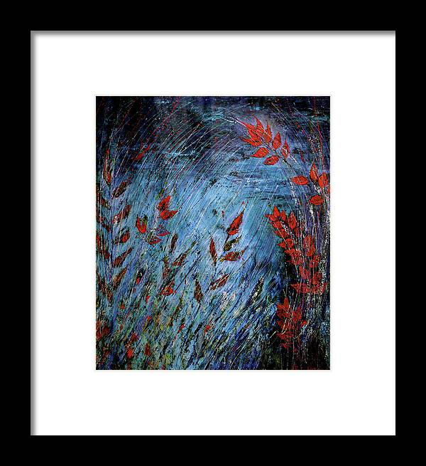 Abstract Framed Print featuring the painting Bp 11 by Betty OHare