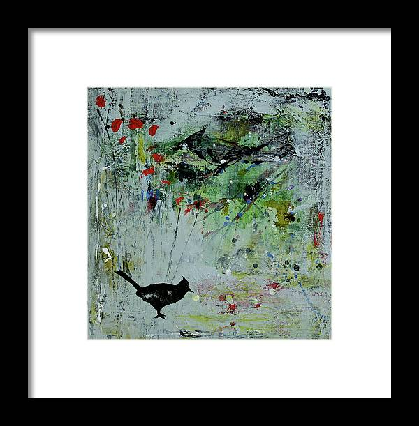 Abstract Framed Print featuring the mixed media Bp 5 by Betty OHare