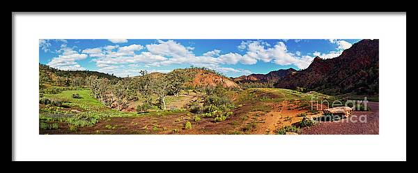 Bracchina Gorge Flinders Ranges South Australia Landscape Panorama Outback Australian Landscapes Framed Print featuring the photograph Bracchina Gorge Flinders Ranges South Australia by Bill Robinson