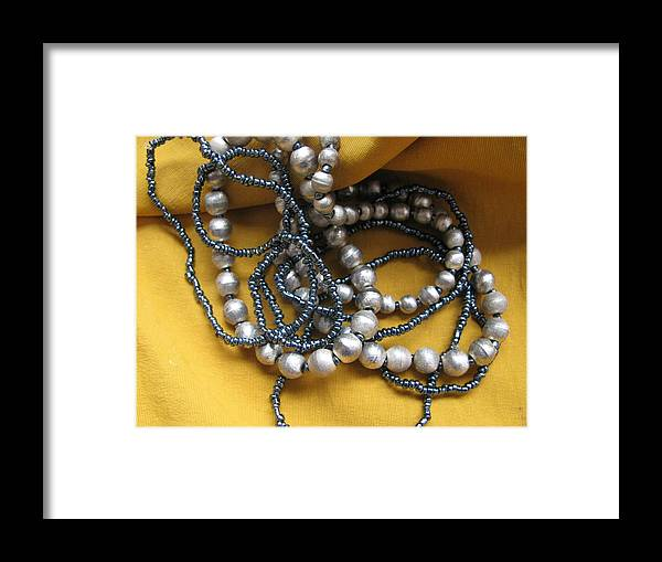 Yellow Framed Print featuring the photograph Bracelets by Lindie Racz